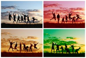 7 people 4 colours by GibDDN