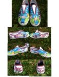 Adventure Time Shoes by 007Ashley