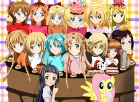 .: Girls in a Cake :. by Sincity2100