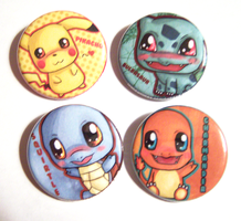 Pokemon Button Set by IcyPanther1