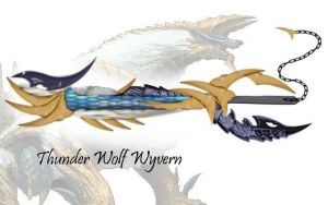 Thunder Wolf Wyvern by OnyxChaos