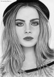 Pencil Drawing Cara Delevingne by iSaBeL-MR