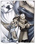 Avatars: Aang and Korra by AdamWithers