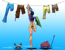 Pants and drops... by Trazador