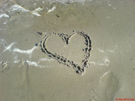 The heart in the sand by chalene