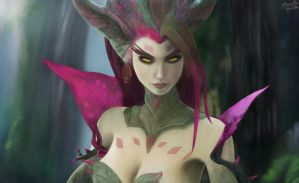 Fan Art League Of Legends Zyra (Cinematic) by BandGeekNinja0723
