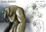 A Song of Ice and Fire: Giant Concept Sketches by franeres