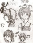 Sketch 2: Music is Life by MoonChime222