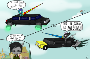 Comm: Sky Jousting with limos by Sandwich-Anomaly