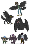 Adventure Time Original Species - Lycrows by The-Clockwork-Crow