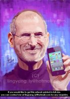 Portrait of Steve Jobs by cheatingly