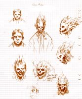 Ghost rider Sketches by ZombiRam