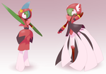 Team Magma Gallade and Gardevoir by TonyFicticium