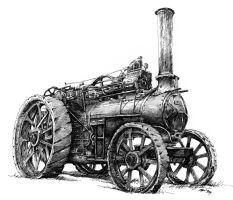 Steam tractor by Vomajda