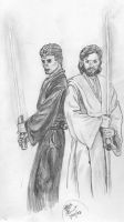 Obi-wan and Anakin by Bowsky
