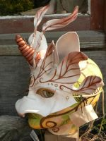 Donkey Unicorn leather mask by faerywhere