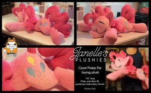 GIANT Pinkie Pie Plush by JanellesPlushies
