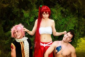 Erza: Bad Boys by runningrame