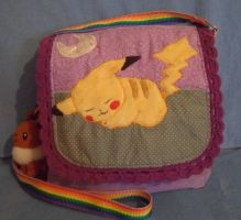 Custom Pikachu Shoulder bag by angelberries