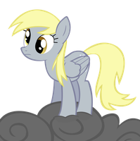 Derpy on a Cloud by steamruler