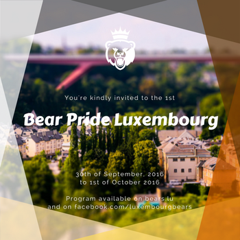Luxembourg Bear Pride Invite by clawfire