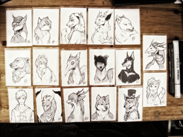 Sketch ACEO Commission Batch by Capukat
