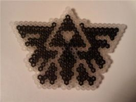 Triforce made from beads by Iluvtoonlink