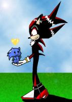 shadow y chao sonic by Lissit