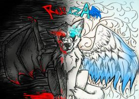Two sides, one wolf by FuHia8000