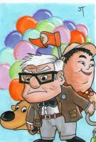 Pixar's Up sketch card by johnnyism