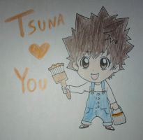 Tsuna Painting by 2n31