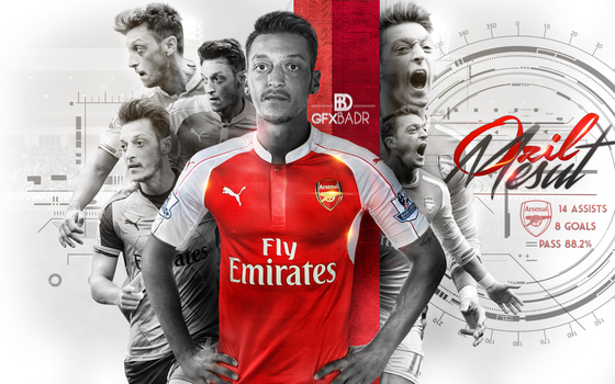Wallpaper Ozil 2016 by Badr-DS