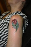 red rose by SimplyTattoo