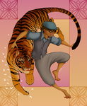 Boy And Tiger by TamHorse