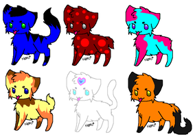 Cat Adoptables **CHEAP** by Lunasadopts