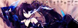Black Rock Shooter Signature by Ninjaotakustalker