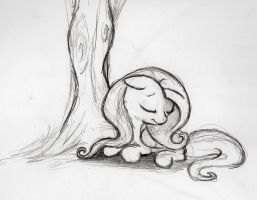 quick Fluttershy sketch 8 by otto720