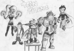 the new teen titans by cybercortex