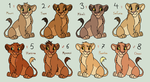 More Lion King Adoptables *CLOSED* by acornheart465