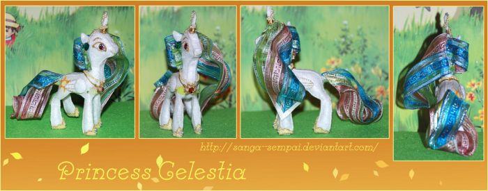 Celestia with pearls (felt doll) by Sanga--sempai