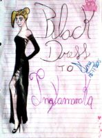 Black Dress to Ino Yamanaka by Ana901