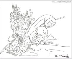 Warner Bros - Kelly Jarvis Production Drawing by AnimationValley