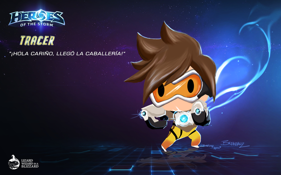 Tracer in Heroes of The Storm by Beyond-BrendaBB