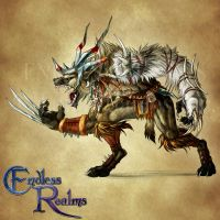 Endless Realms bestiary - Gnoll by jocarra