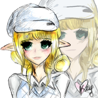 I just randomly sketched a mabi elf by luvkey