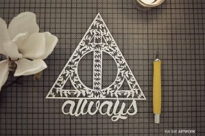 always // harry potter papercut by KiaSuee