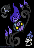Flames of the Forgotten - Tribalish Chandelure by vaguelygenius