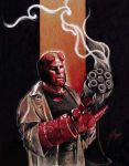 Hellboy and Big Baby by GabeFarber