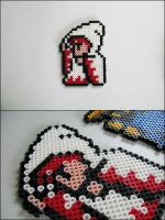 Final Fantasy 1 White Mage (casting) magnet by 8bitcraft