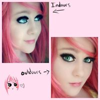 My pink hair- somewhat quality photos by creampuffchan